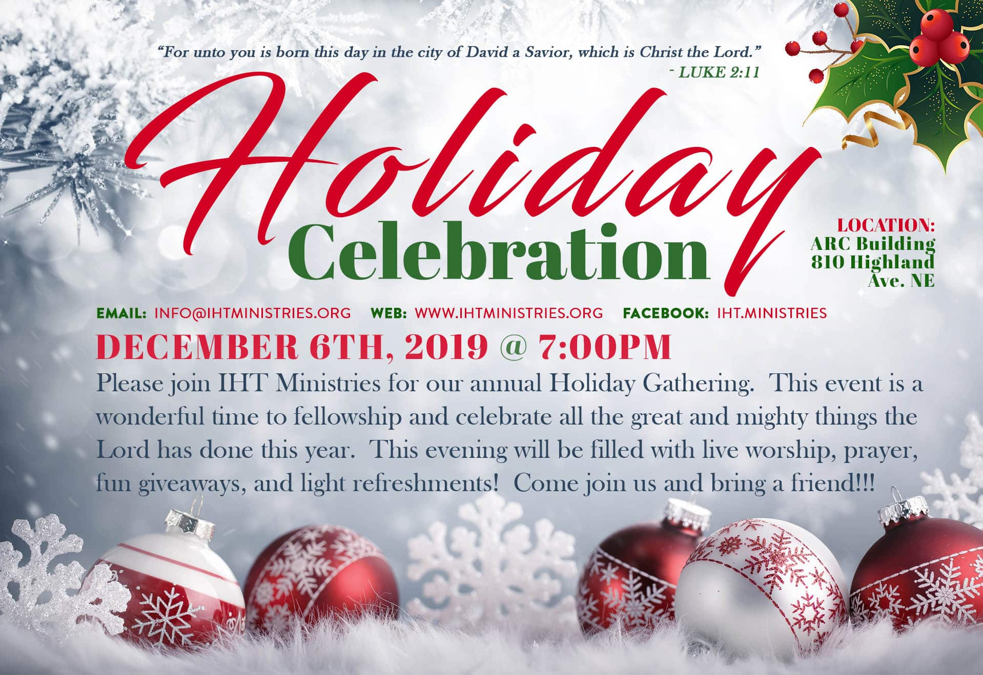 Holiday Gathering (12-6-19 FNF)