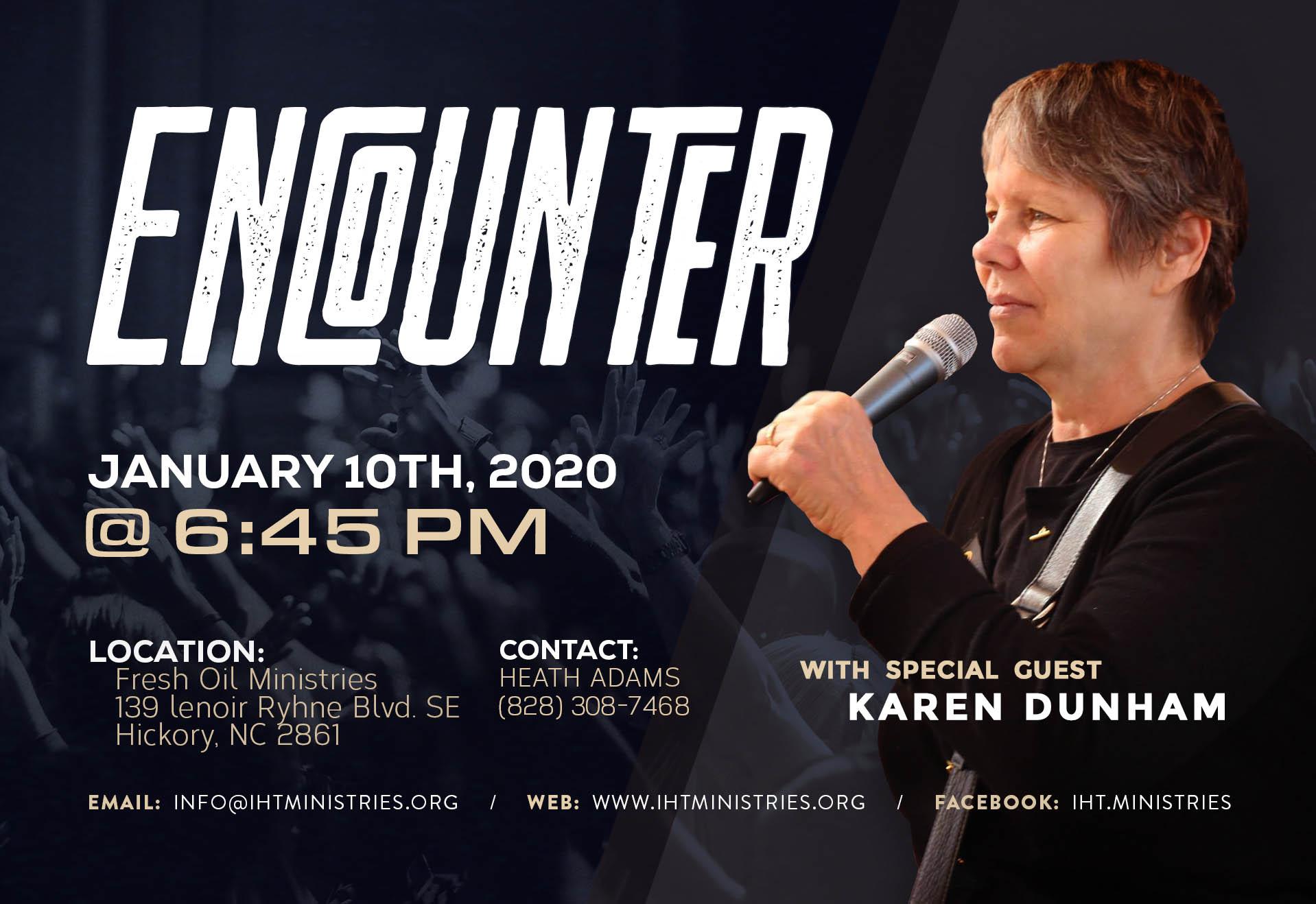 ENCOUNTER – with Karen Dunham